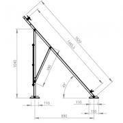 WUNDER CLS/CNSG 2108 - ALS/ANSG 2108 Düz Çatı Montaj Seti
